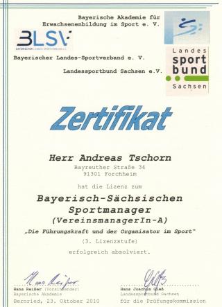 Sportmanagement - Andreas M. Tschorn